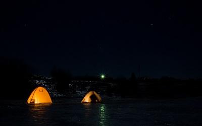 Подготовка к зимней ловле леща ночью