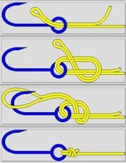 Узлы для привязывания крючков