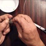 Как привязать вертлюжок к леске