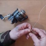 Как привязать леску к катушке